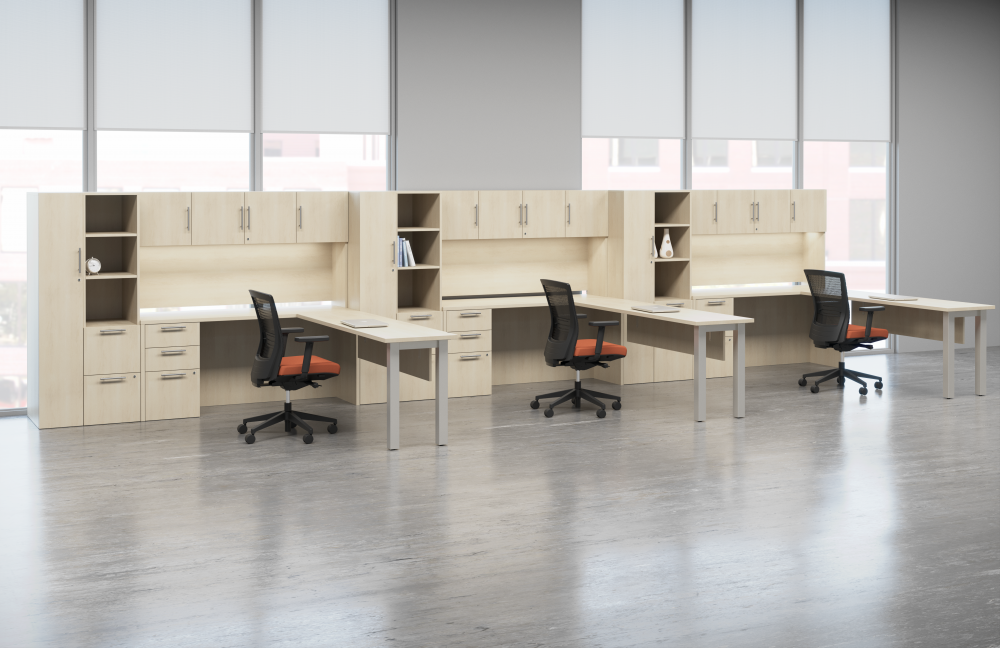 Preview of Calibrate Series Casegoods Open Plan with Upton Seating