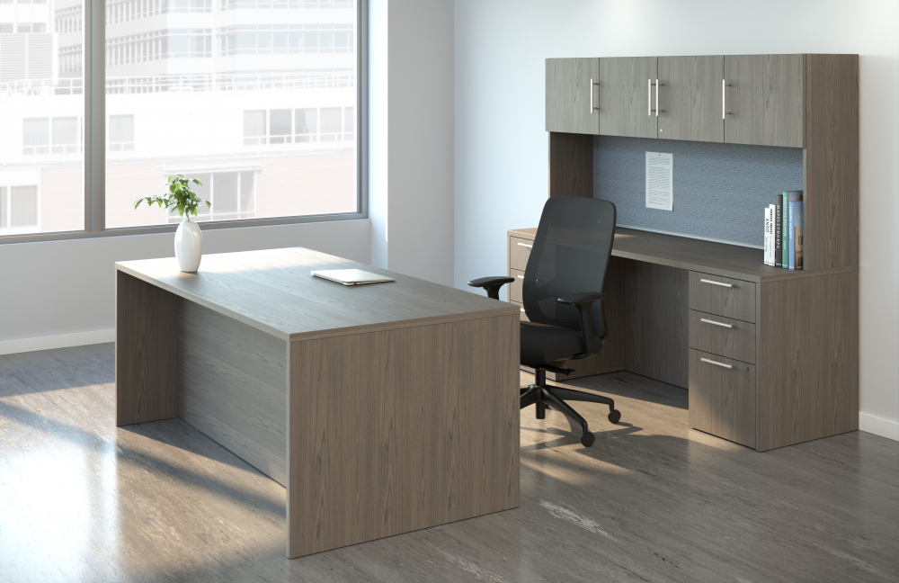 Preview of Calibrate Casegoods Private Office with Bolton Highback Seating
