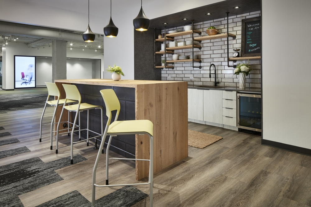 Preview of Chicago Showroom Cafe with Pierce Stool Seating