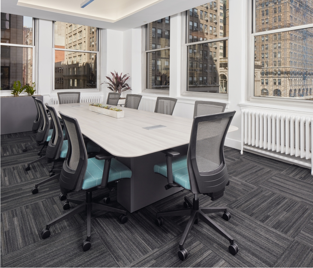 Preview of Calibrate Conferencing Table with Integrated Power and Upton Seating