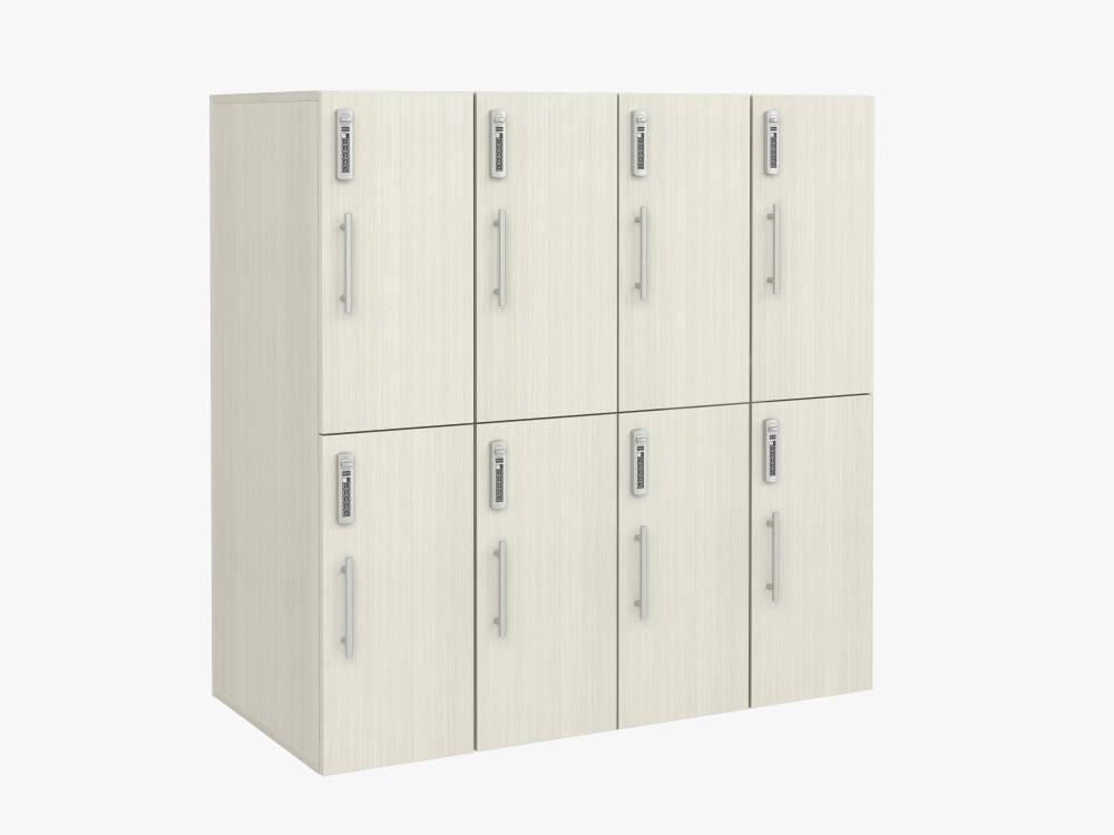 """Preview of Calibrate Storage 50"""" Lockers, 2 high, 4 across with digital locks"""