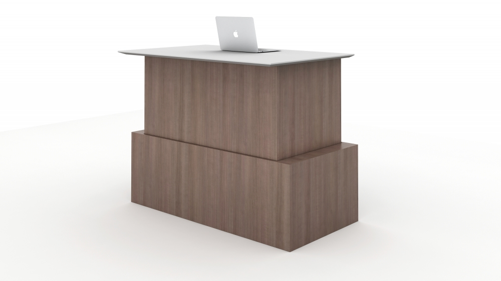 Preview of Calibrate Casegoods Telescoping Height Adjustable Executive Desk in highest position