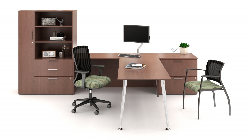 Preview of Calibrate Series Casegoods Private Office with Natick and Grafton Seating