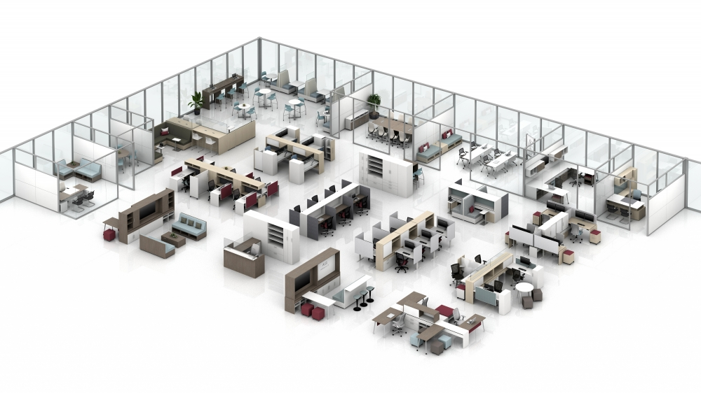 Preview of Calibrate Floorplate with Community, Calibrate Casegoods, Storage, Conferencing and Reception