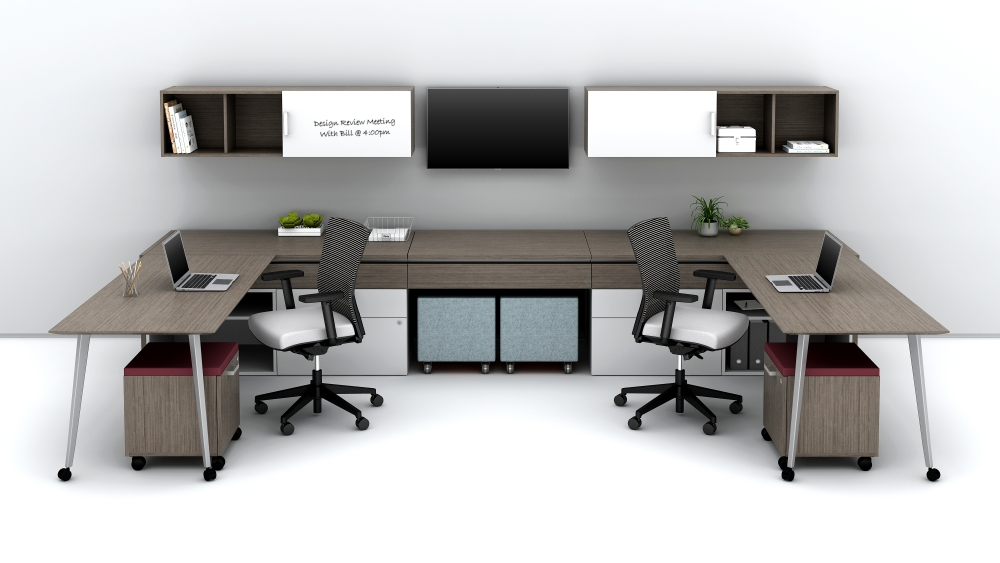 Preview of Community Shared Office with sliding worksurfaces Floorplate Area 4