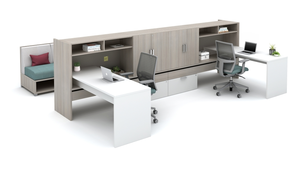 """Preview of Calibrate Community with 8"""" Overhead storage and cabinets"""