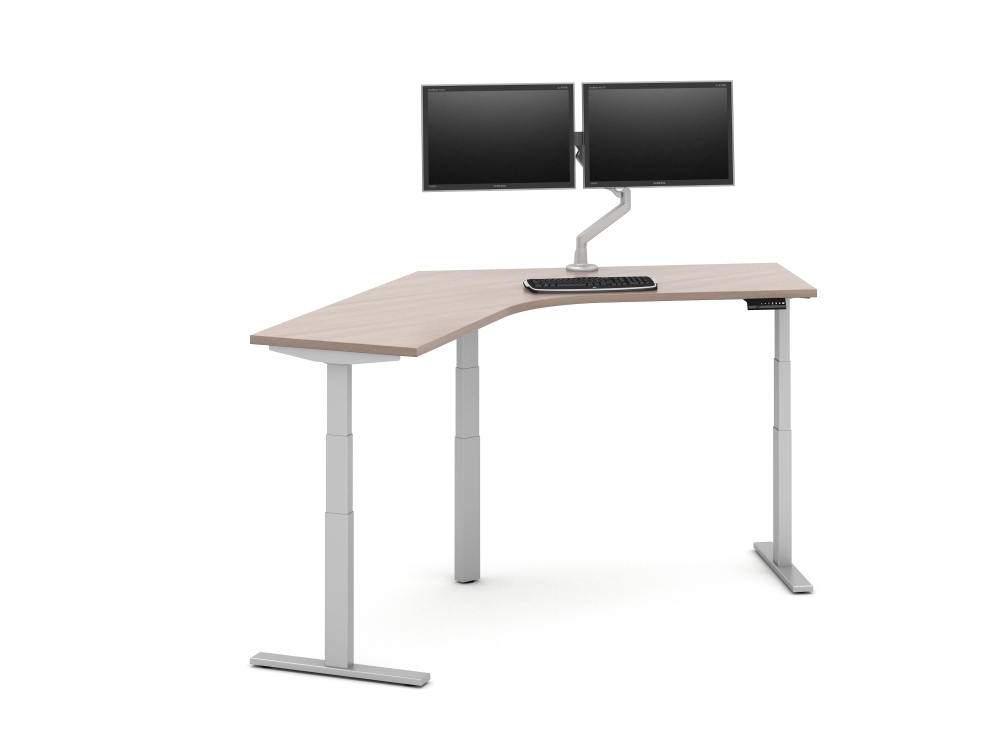 Preview of Day-to-Day 120 Degree Height Adjustable Table with attached Monitor Arm