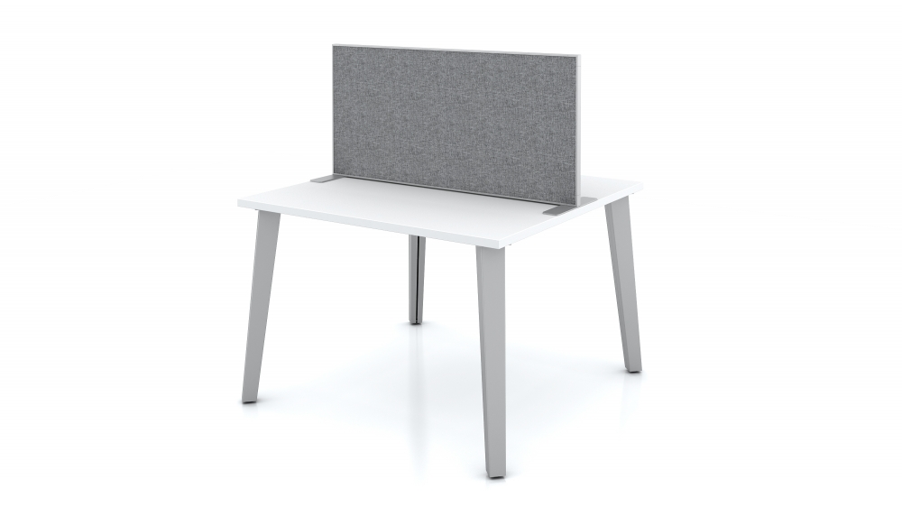 """Preview of 20 x 42"""" Freestanding Slimline Screen on Day-to-Day Table"""