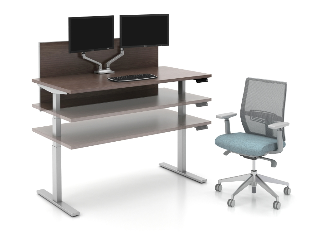 Preview of Day to Day Height Adjustable Table at Multiple Heights