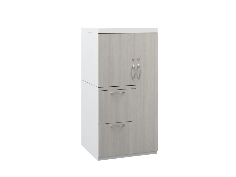 Preview of L Series Steel Storage 50 inch Wardrobe Tower with Laminate Fronts