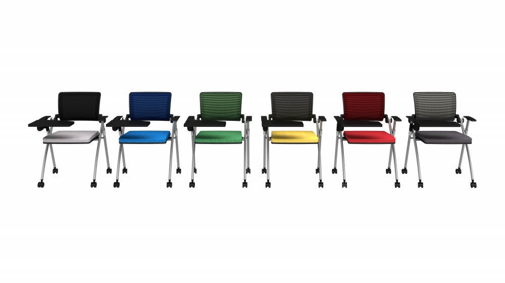 Preview of Stow Nesting Multi-purpose Chair shown with optional Tablet and Casters