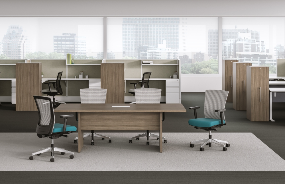 Preview of Calibrate Conference Table with Modesty, Divi and Upton also shown