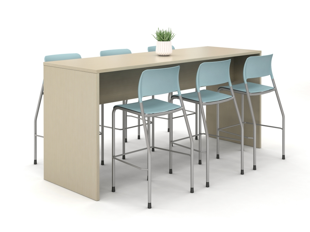 Preview of Calibrate End Panel Table at Standing Height with Pierce Stool