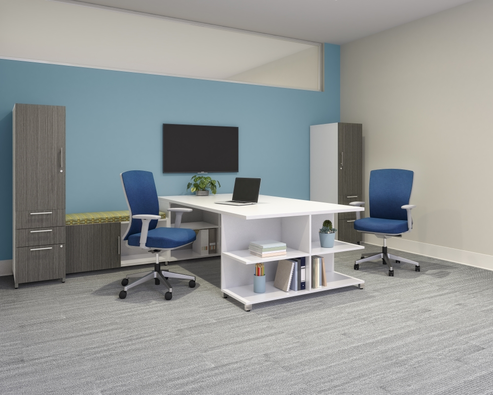 Preview of Calibrate Series Casegoods Custom Private Office with Natick Seating