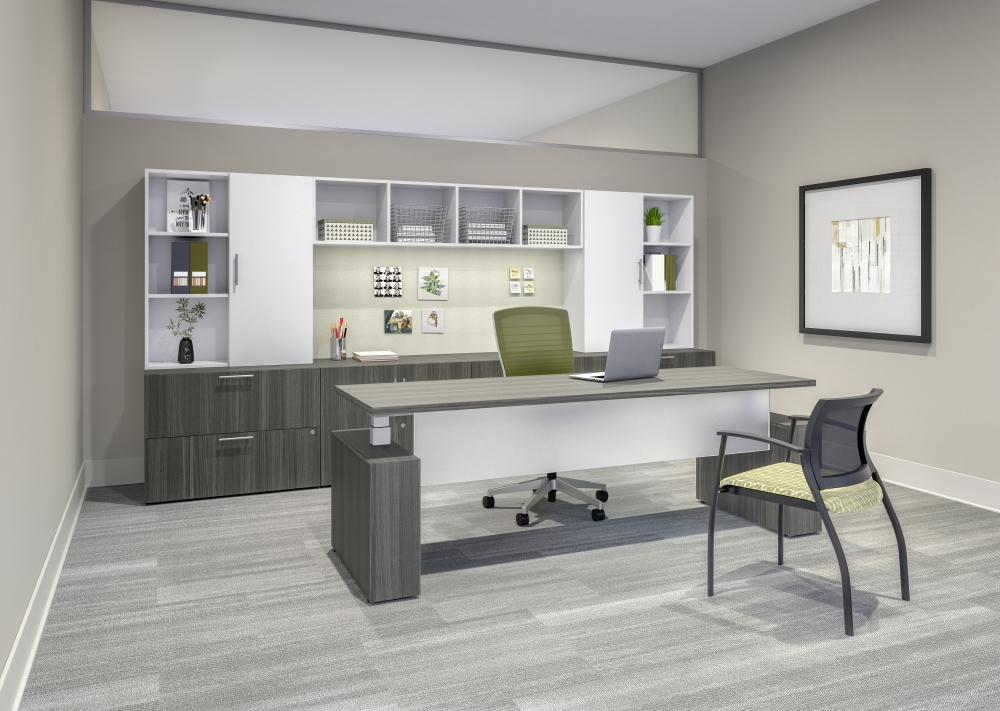 Preview of Calibrate Series Casegoods Private Office with Height Adjustable Desk