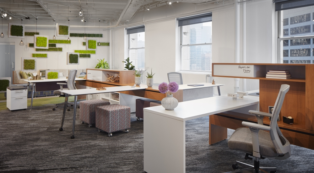 Preview of NeoCon 18 Chicago Showroom, Calibrate Community with Natick Seating and Volker Cubes