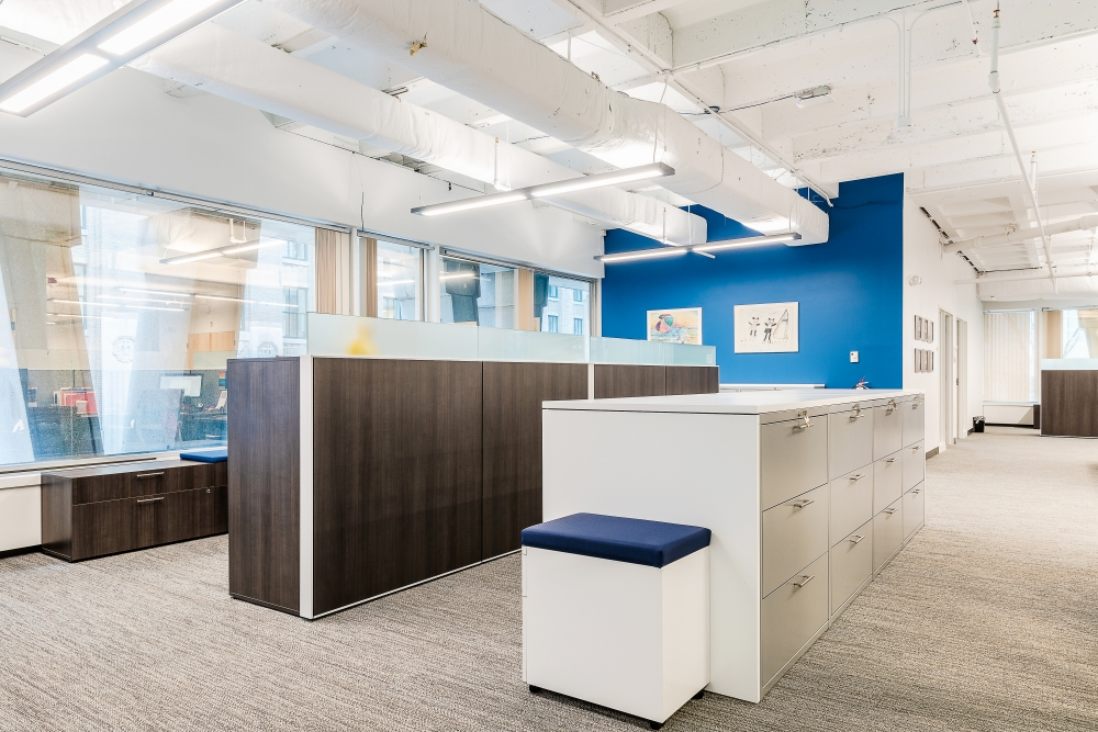 Preview of Client Space with Matrix Laminate Panels, L Series Storage