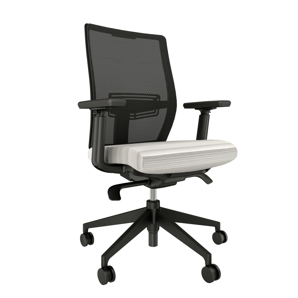 Preview of Devens with Black Base, Black Mesh and Momentum Delve White Seat