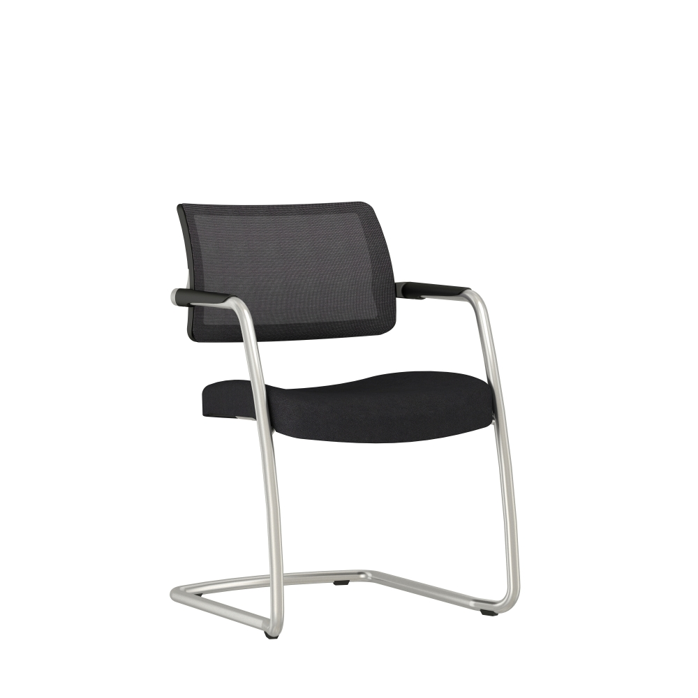 Preview of Devens Side Chair in Express Black, 3/4 view
