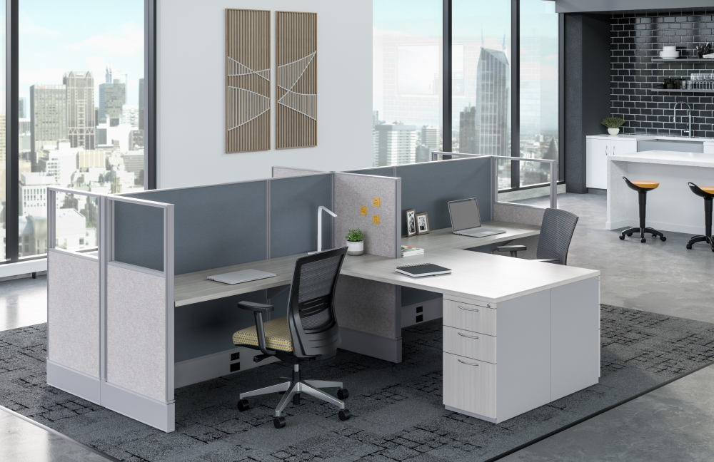 Preview of Divi with shared worksurface and Upton Seating