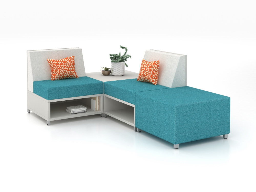 Preview of LB Single Seat Lounge, Table and Ottoman