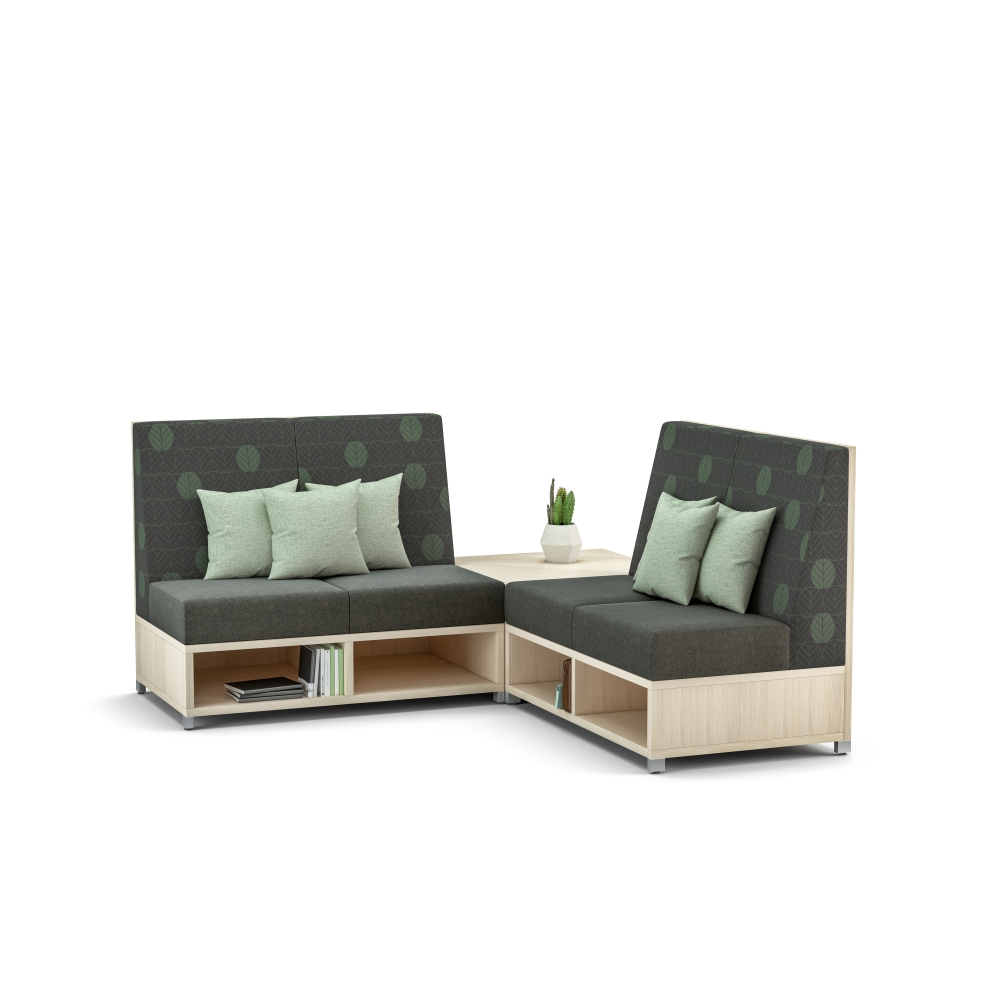 Preview of LB Lounge Medium Back Seating with back corner table