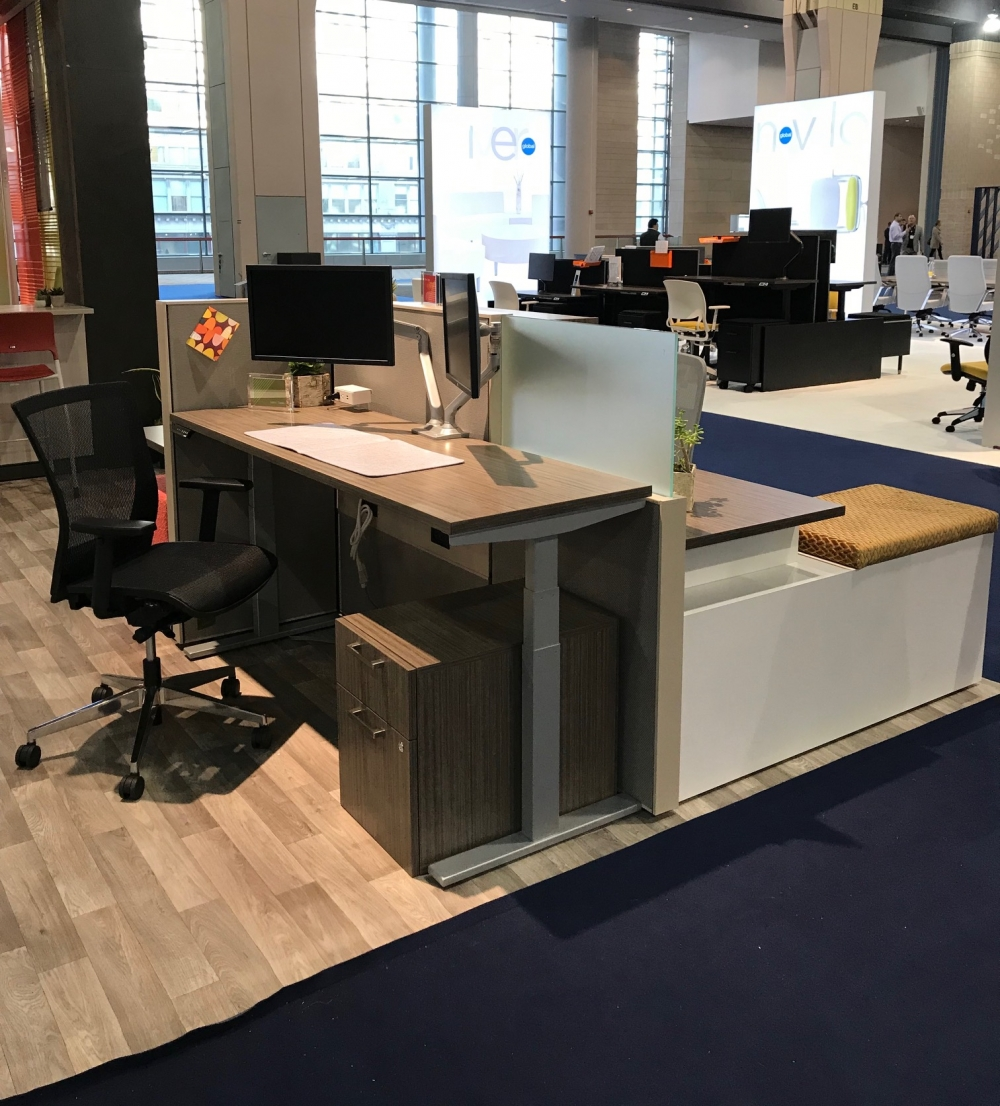 Preview of Matrix Panel System with Height Adjustable Table