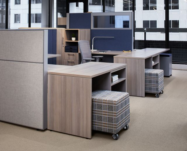 AIS Washington D.C. Showroom Matrix with Calibrate Storage, Volker Cube and Natick Task Seating