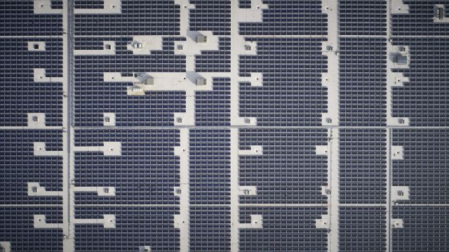 AIS Headquarters Solar Panels Aerial View
