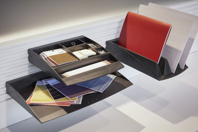 Paper Flow on WorkRail with File Folder Tray, Paper Tray and Accessories Tray