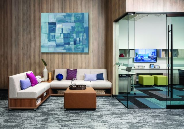 LB Lounge Seating in the Chicago Showroom