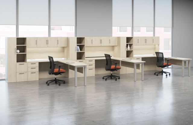 Calibrate Series Casegoods Open Plan with Upton Seating