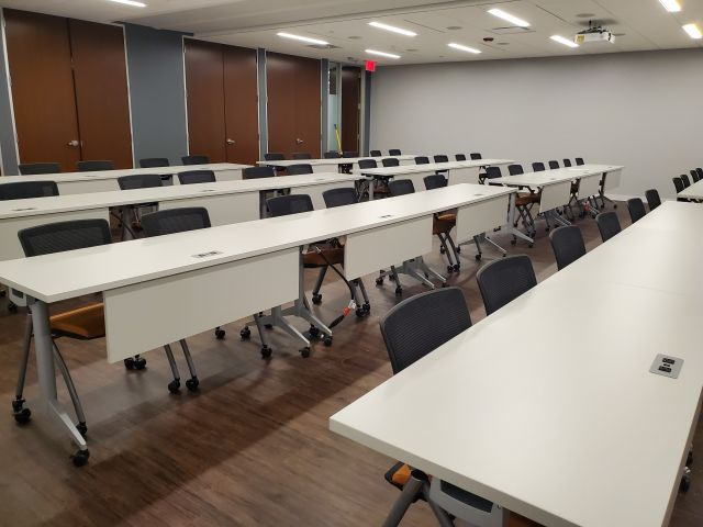 Client Site, Training Room with Day-to-Day Flip-top Nesting Tables