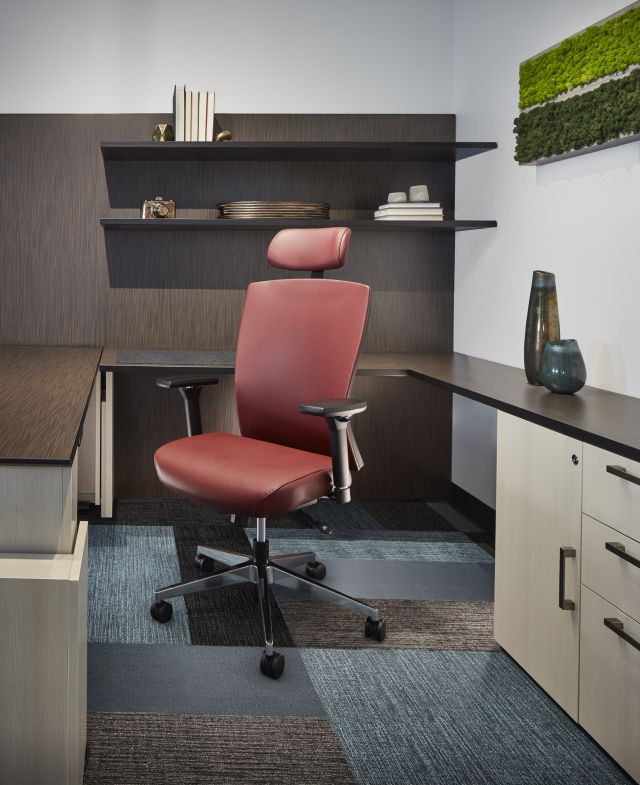 Natick Highback with Headrest in private office