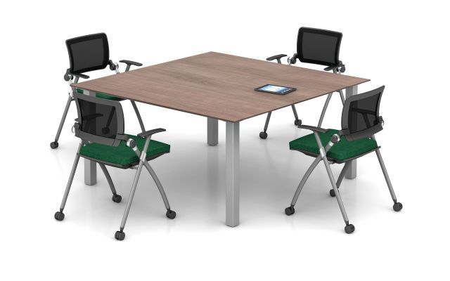 Day-to-Day Wood Laminate Table with Stow Seating