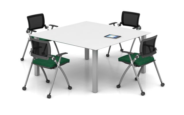 Day-to-Day Square Table with Stow Seating