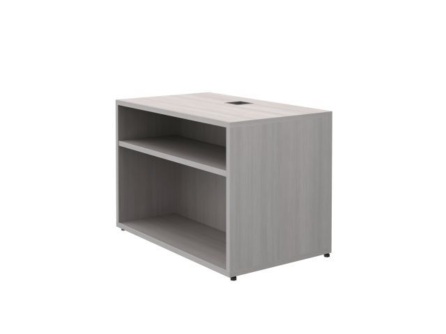 "Calibrate Storage Height Adjustable Table Base with Bookcase 30"" x 18"" in Looks Likeatre"