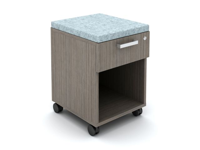 Calibrate Cubby Mobile Ped with cushion