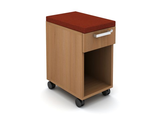 "Calibrate Cubby 18"" W Mobile Ped with cushion"