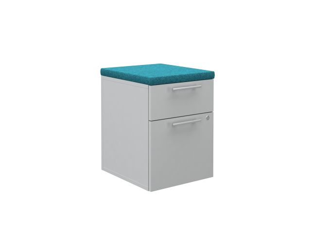 Calibrate Series Storage 18 inch deep B/F Pedestal without casters