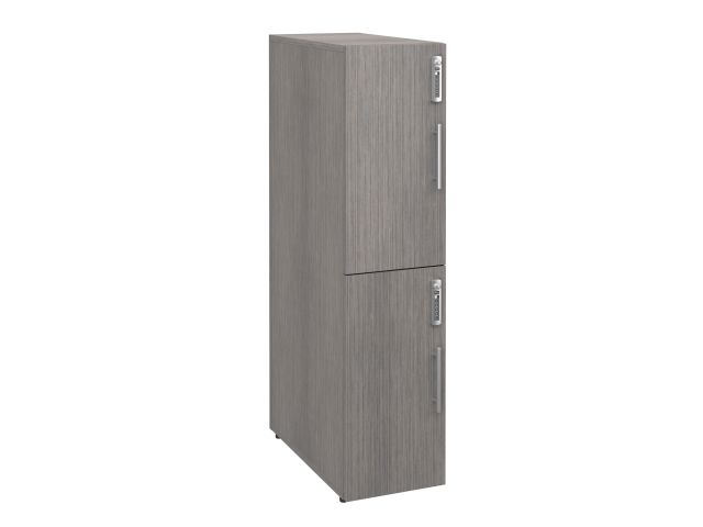 "Calibrate Series Storage Two High 50"" Lockers, front view"