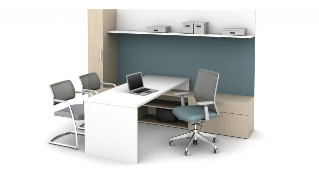 Calibrate Casegoods L Shelf in Private Office