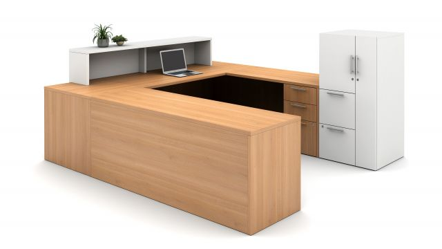 Calibrate Laminate Casegoods Reception Station, exterior view