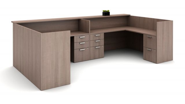 Calibrate Laminate Casegoods Reception Station, interior view