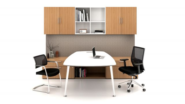 Calibrate Casegoods Private Office with Devens Task and Side Chair