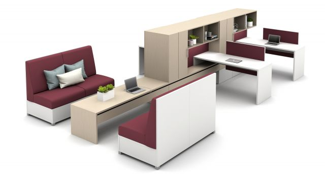 Calibrate Community with Cantilevered Overheads and LB Lounge for Collaboration