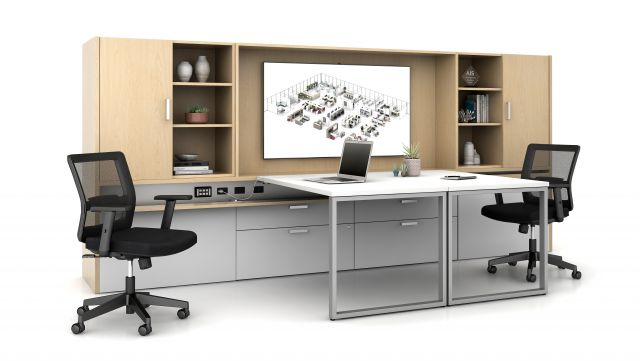 Calibrate Community with O Leg Supported Sliding Tables