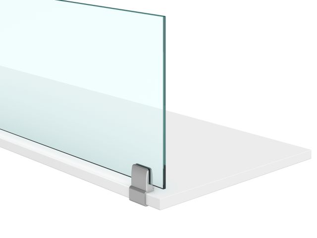 Undersurface mount clip supported screen