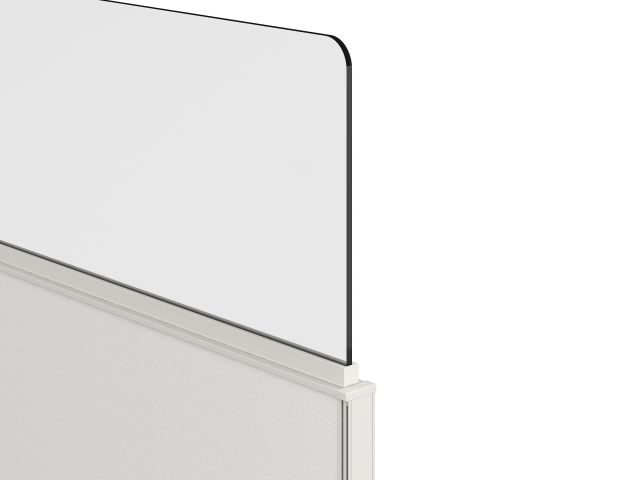 Lexan Channel Supported Surface Mount Screen on Divi