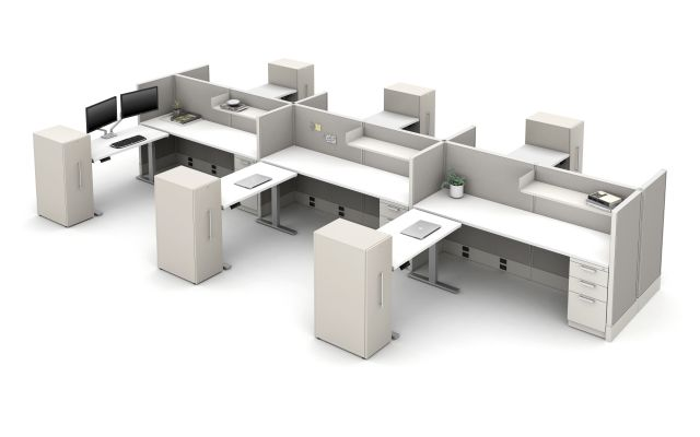 Divi Linear with Height Adjustable Tables and Calibrate Storage